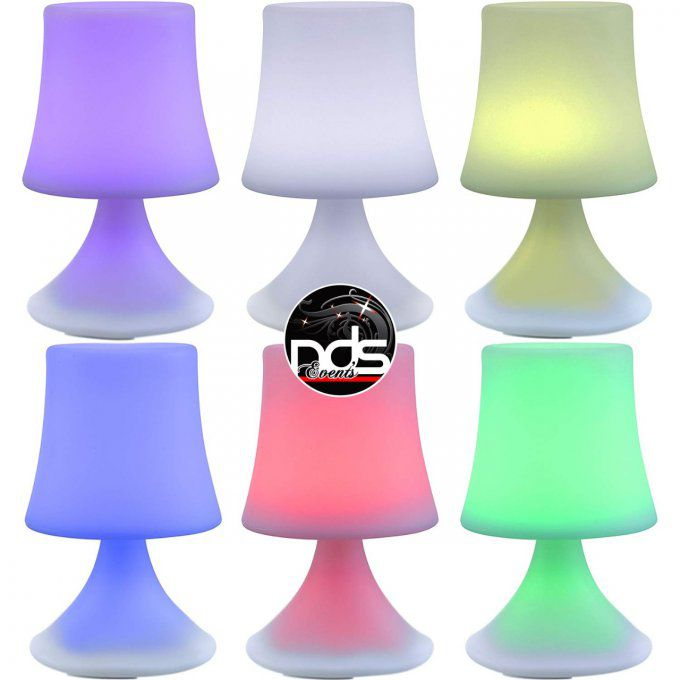 Lampe de table LED couleur RGB sur batterie