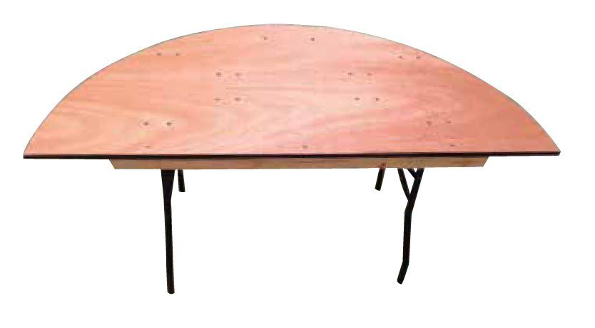 Table demi-ronde 152cm