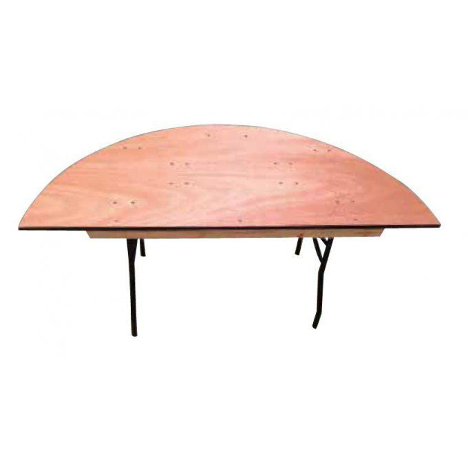 Table demi-ronde 122cm