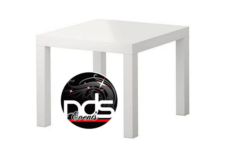 Table basse blanche 55x55cm