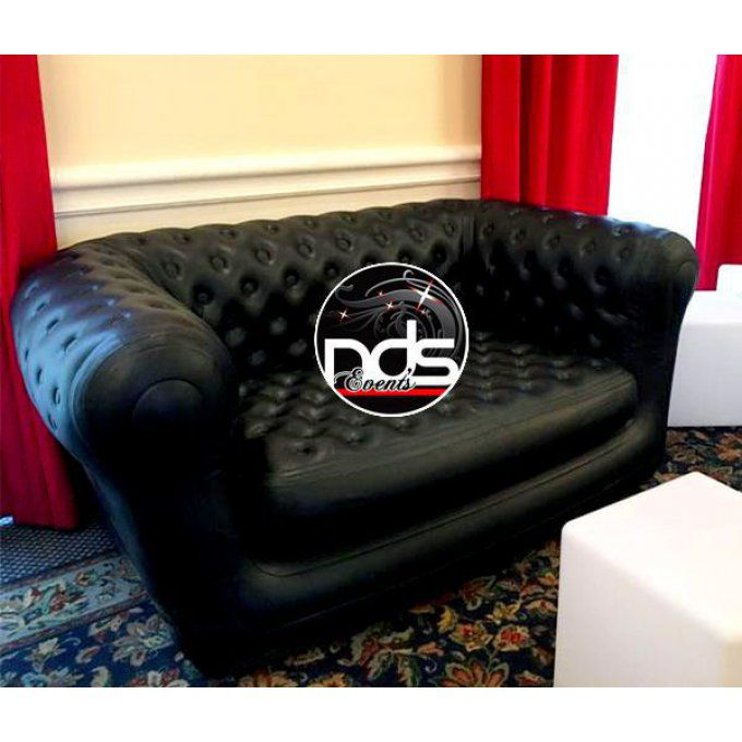 Canapé Chesterfield gonflable Noir
